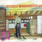Intérieur japonais OZU peinture figurative contemporaine
