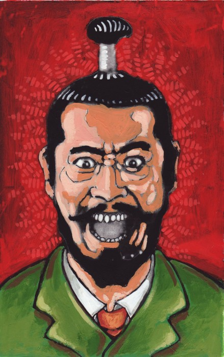 Toshirô Mifune Le château de l'Araignée Akira Kurosawa peinture sur photocopie Macbeth Shakespeare Japon médiéval Taketori Washizu masque théâtre Nô