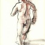 nu modèle vivant dessin encre homme