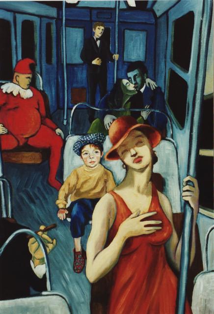 métro wagon hopper van gogh picasso gauguin