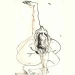 nu modèle vivant dessin encre femme