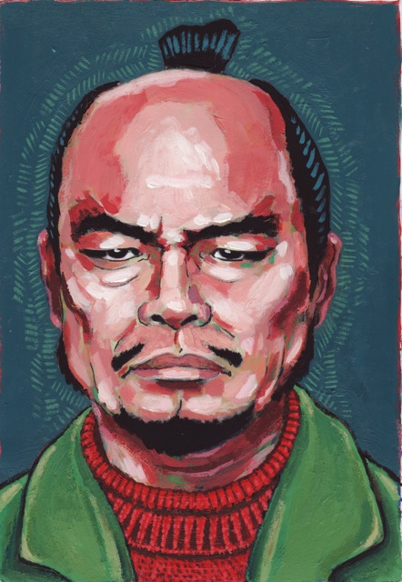 Susumu Fujita La forteresse cachée Akira Kurosawa peinture sur photocopie Macbeth Shakespeare Japon médiéval