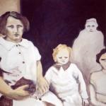 peinture carton famille