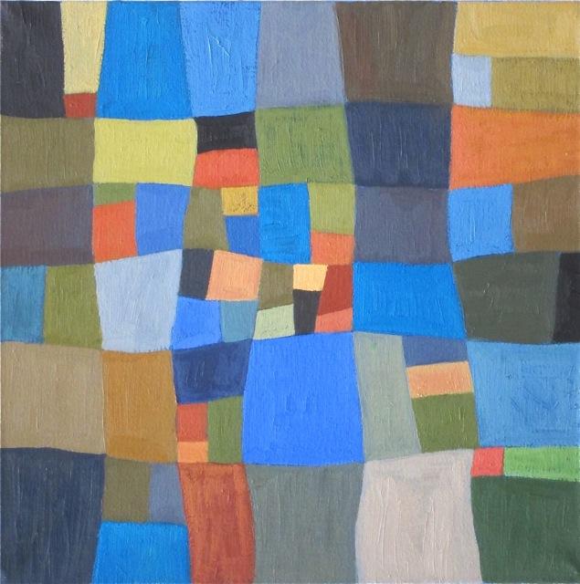 damier méditation mandala peinture abstraite