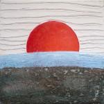 peinture drapeau japonais soleil rouge