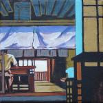Intérieur japonais – petit format 11 net vendu Carole Gaudin PO2016